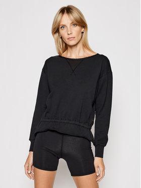 Deha Deha Sweatshirt Ruffled B44050 Noir Regular Fit