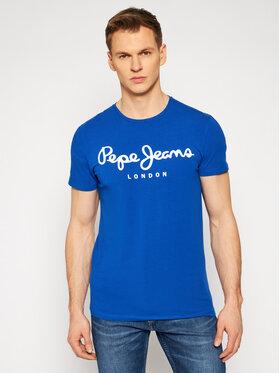 Pepe Jeans Pepe Jeans Póló Orginal Stretch PM501594 Sötétkék Regular Fit