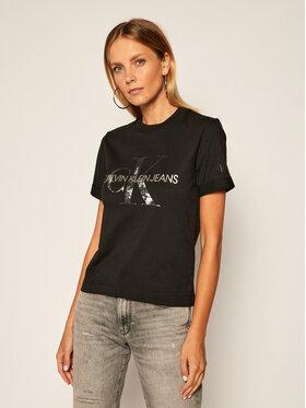 Calvin Klein Jeans Calvin Klein Jeans Tricou New York Logo J20J214233 Negru Regular Fit