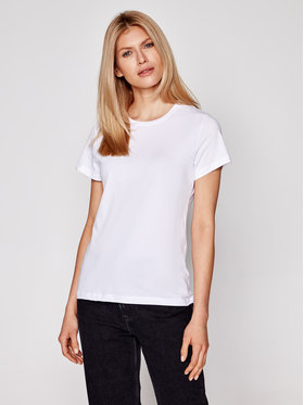 Samsøe Samsøe Samsøe Samsøe Тишърт Solly Solid F00012050 Бял Regular Fit
