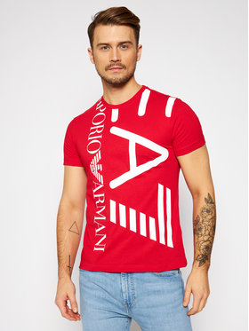 EA7 Emporio Armani EA7 Emporio Armani T-shirt 3KPT07 PJA2Z 1451 Rouge Regular Fit