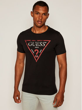 Guess Guess Póló Clear M81I13 I3Z00 Fekete Slim Fit