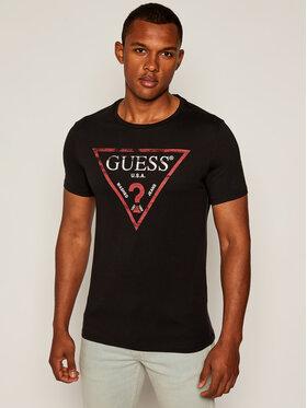 Guess Guess T-Shirt Clear M81I13 I3Z00 Černá Slim Fit