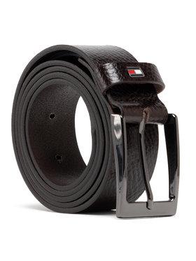 Tommy Hilfiger Tommy Hilfiger Pánsky opasok Layton Pebble Leather 3.5 AM0AM05635 Hnedá