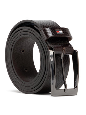 Tommy Hilfiger Tommy Hilfiger Ζώνη Ανδρική Layton Pebble Leather 3.5 AM0AM05635 Καφέ