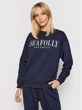 Seafolly Seafolly Bluza Leisure 54569 Granatowy Regular Fit