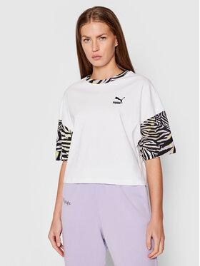 Puma Puma T-Shirt Cg Boyfriend 599619 Λευκό Loose Fit