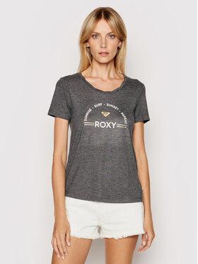 Roxy Roxy Тишърт Chasing The Swell ERJZT05138 Сив Regular Fit