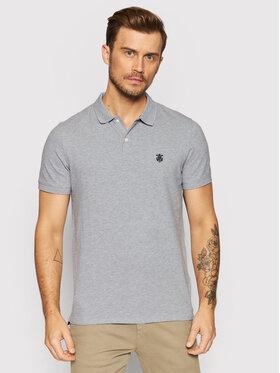 Selected Homme Selected Homme Тениска с яка и копчета Embroidery 16049517 Сив Regular Fit