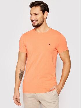 Tommy Hilfiger Tommy Hilfiger T-shirt Stretch MW0MW10800 Orange Slim Fit