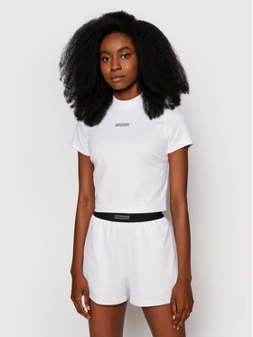 Calvin Klein Jeans Calvin Klein Jeans Bluză J20J216113 Alb Slim Fit
