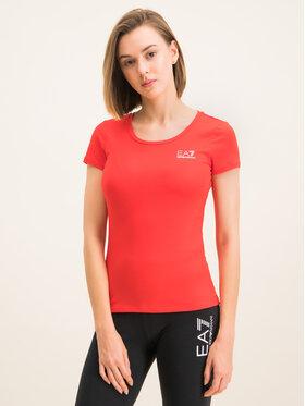 EA7 Emporio Armani EA7 Emporio Armani T-shirt 8NTT64 TJ28Z 1100 Rouge Regular Fit
