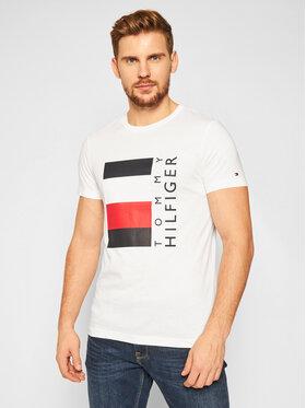 TOMMY HILFIGER TOMMY HILFIGER T-Shirt Corp Stripe Box MW0MW15323 Bílá Regular Fit