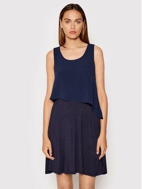 DKNY DKNY Kokteilinė suknelė DD1EL806 Tamsiai mėlyna Slim Fit