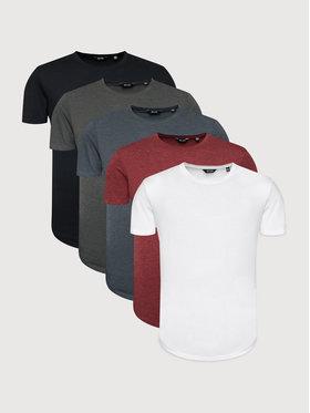 Only & Sons Only & Sons Súprava 5 tričiek Matt 22012786 Farebná Regular Fit