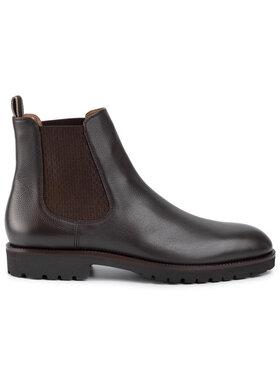 Boss Boss Kotníková obuv s elastickým prvkem Edenlug 50411073 10216136 01 Hnědá