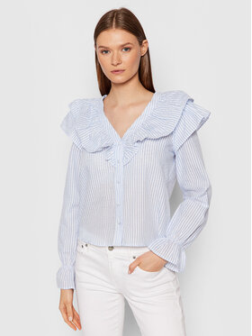 Vero Moda Vero Moda Koszula Puri Striped 10265958 Niebieski Regular Fit
