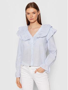 Vero Moda Vero Moda Marškiniai Puri Striped 10265958 Mėlyna Regular Fit