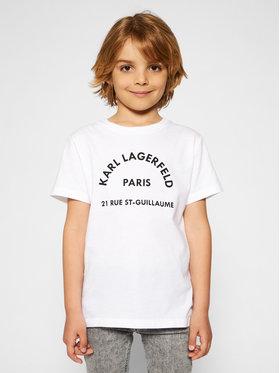 KARL LAGERFELD KARL LAGERFELD T-shirt Z25272 S Bijela Regular Fit
