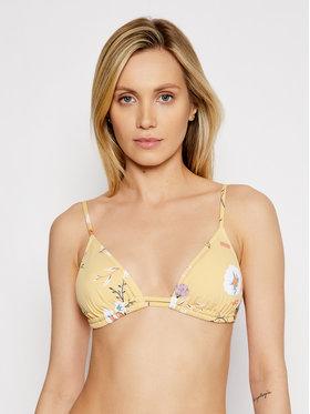 Roxy Roxy Góra od bikini Lahaina Bay Tiki Tri ERJX304092 Żółty
