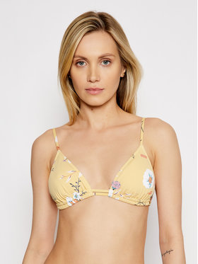 Roxy Roxy Haut de bikini Lahaina Bay Tiki Tri ERJX304092 Jaune