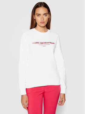 KARL LAGERFELD KARL LAGERFELD Bluză Graphic Logo 215W1801 Alb Regular Fit