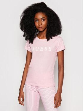 Guess Guess T-Shirt O1GA22 K8HM0 Różowy Regular Fit