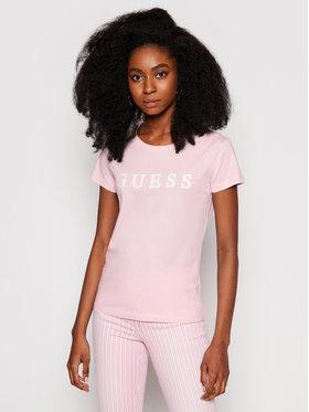 Guess Guess T-Shirt O1GA22 K8HM0 Růžová Regular Fit