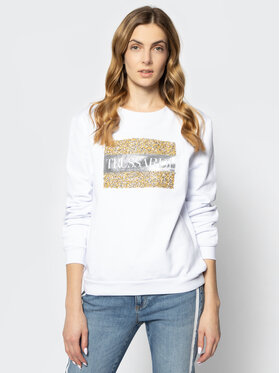 Trussardi Jeans Trussardi Jeans Džemperis 56F00086 Balta Oversize