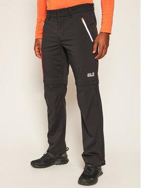 Jack Wolfskin Jack Wolfskin Spodnie outdoor Overland Zip Away M 1506111 Czarny Regular Fit