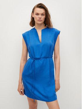 Mango Mango Sukienka codzienna Sonder 87088636 Niebieski Regular Fit