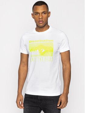 Diesel Diesel T-shirt T-Diego-J4 00S4E1 0PATI Blanc Regular Fit