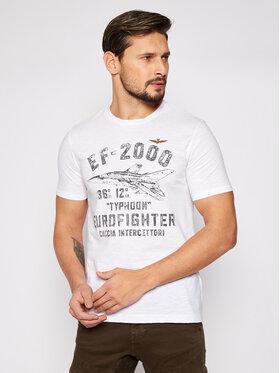 Aeronautica Militare Aeronautica Militare T-Shirt 211TS1865J512 Biały Regular Fit