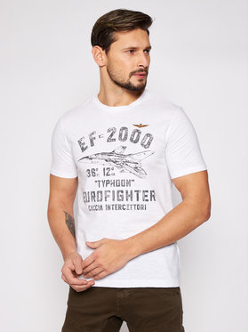 Aeronautica Militare Aeronautica Militare T-shirt 211TS1865J512 Bianco Regular Fit