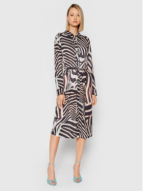 HYPE HYPE Sukienka koszulowa YWF-232 Kolorowy Regular Fit
