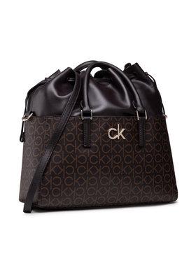 Calvin Klein Calvin Klein Sac à main Conv Habo Monogram Mix K60K608316 Marron