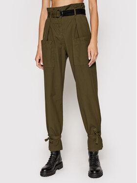 Pinko Pinko Spodnie materiałowe Geometria Zielony Regular Fit