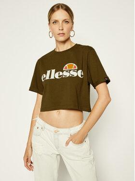 Ellesse Ellesse T-Shirt Alberta Crop SGS04484 Grün Regular Fit