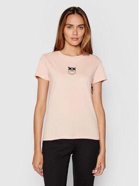 Pinko Pinko T-Shirt Bussolotto PE 21-22 BLK01 1G16J6 Y651 Różowy Regular Fit