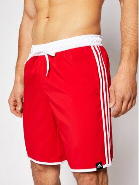 adidas adidas Szorty kąpielowe Classic Length 3-Stripes GQ1106 Czerwony Regular Fit