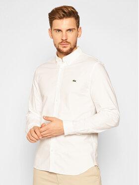 Lacoste Lacoste Πουκάμισο CH2671 Λευκό Slim Fit