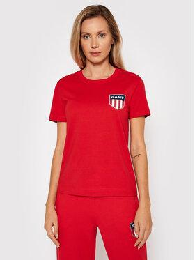 Gant Gant T-Shirt Retro Shield 4200219 Czerwony Relaxed Fit