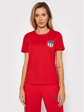 Gant Gant T-Shirt Retro Shield 4200219 Rot Relaxed Fit