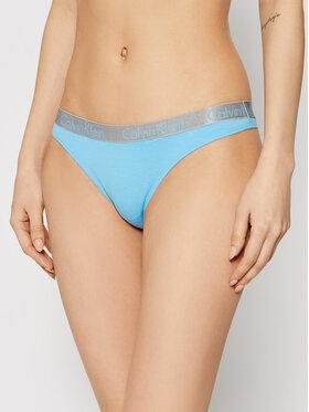 Calvin Klein Underwear Calvin Klein Underwear Stringi 000QD3539E Niebieski