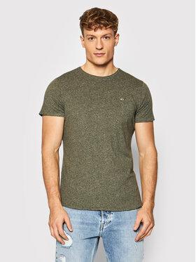 Tommy Jeans Tommy Jeans T-Shirt Jaspe DM0DM09586 Zielony Slim Fit