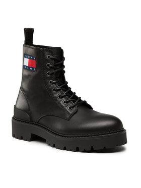 Tommy Jeans Tommy Jeans Outdoorová obuv Lace Up Hertage Boot EM0EM00892 Čierna