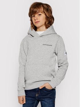 Calvin Klein Jeans Calvin Klein Jeans Mikina Monogram IB0IB00570 Sivá Regular Fit