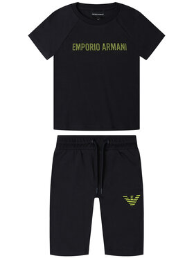 Emporio Armani Emporio Armani Komplet t-shirt i spodenki 3H4VJ5 4J3AZ 0922 Granatowy Regular Fit