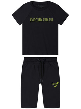 Emporio Armani Emporio Armani Set T-Shirt und Shorts 3H4VJ5 4J3AZ 0922 Dunkelblau Regular Fit