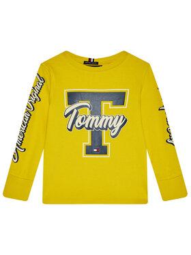 TOMMY HILFIGER TOMMY HILFIGER Bluzka Fun Varsity Tee KB0KB06104 D Żółty Regular Fit